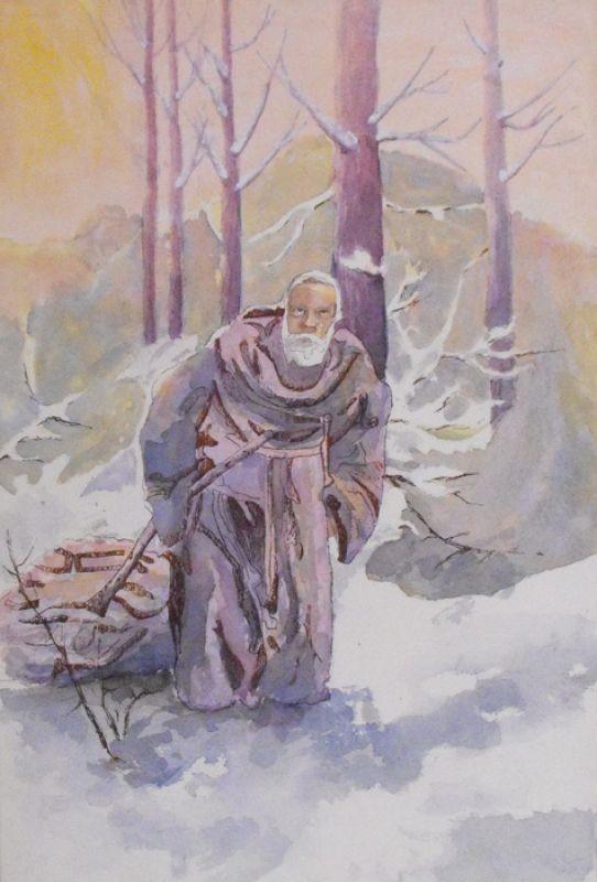 140-Heiliger-Mann-Mischtechnik