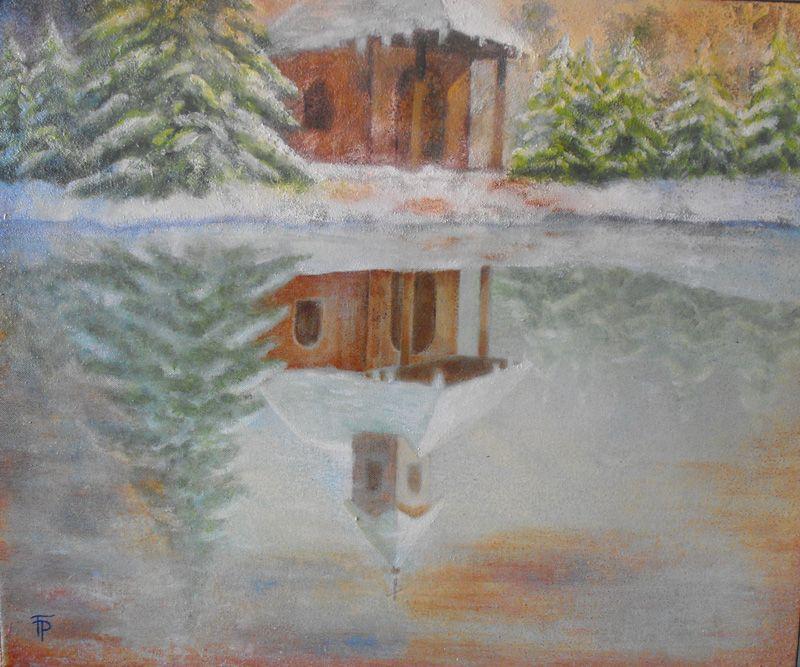 171-Kapelle-Wasserspiegelung-Ol