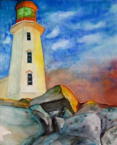 021-der-Leuchtturm-Aquarell