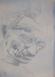 087-Gandhi-Bleistift
