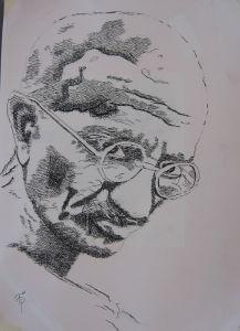 088-Gandhi-2-Klassisches-Zeichnen