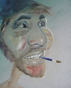 097-Selbstportrait-Mischtechnik