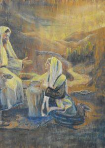 143-Jesus-und-Samariterin-Ol-auf-Bambus