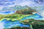 226-Naturschnheit-Norwegen-Aquarell